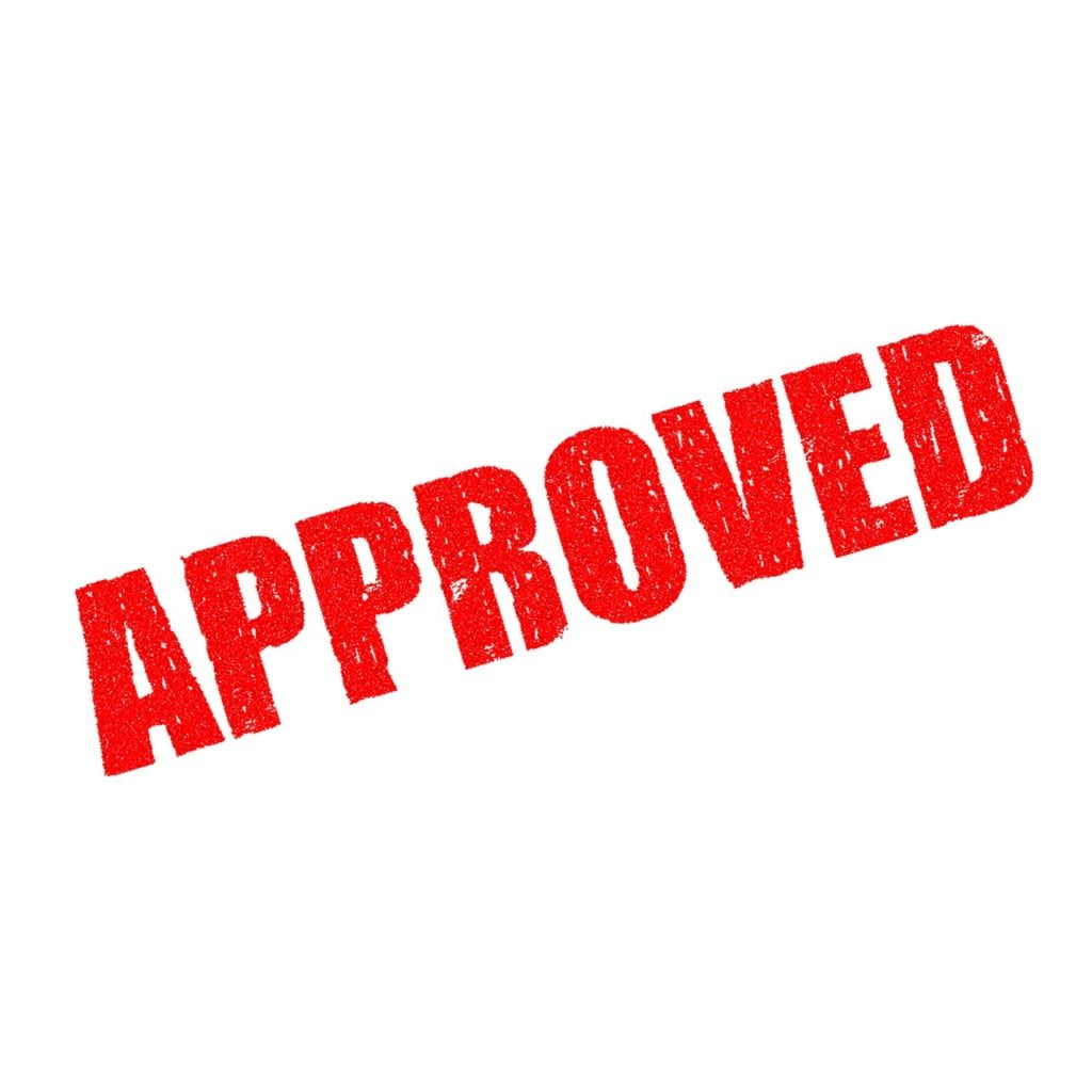 easiest network to pass credit check approved red rubber stamped