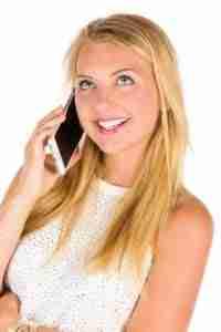 guaranteed contract phones girl on mobile