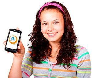 contract phones no credit check no deposit girl smiling got new phone contract