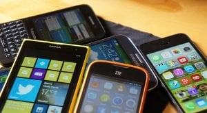 refurbished mobile phones cheaper prices pile of mobile phones