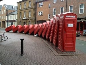 turned down for mobile phone contract red phone boxes falling down